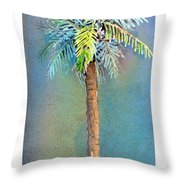 Simple Palm Tree Throw Pillow by Arline Wagner