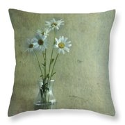 Simply Daisies Throw Pillow by Priska Wettstein