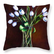Simply Tulips Throw Pillow by Shannon Grissom