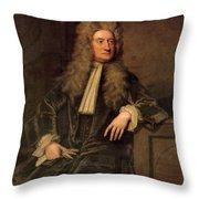 Sir Isaac Newton  Throw Pillow by Sir Godfrey Kneller