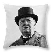 Sir Winston Churchill Throw Pillow by War Is Hell Store