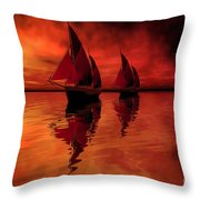 Siren Song Throw Pillow by Corey Ford