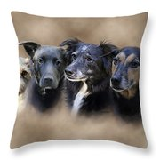Sis's Buddies Throw Pillow by Barbara Hymer