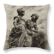 Sisters Throw Pillow by Bill Cannon