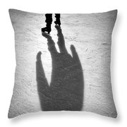 Skater Throw Pillow by Dave Bowman