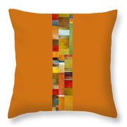 Skinny Color Study L Throw Pillow by Michelle Calkins