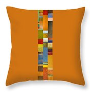 Skinny Color Study Ll Throw Pillow by Michelle Calkins