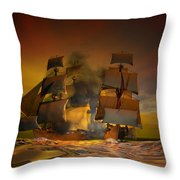 Skirmish Throw Pillow by Carol and Mike Werner