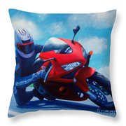 Sky Pilot - Honda CBR600 Throw Pillow by Brian  Commerford