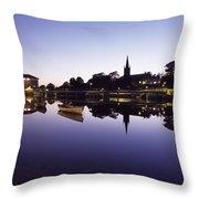 Skyline Over The R Garavogue, Sligo Throw Pillow by The Irish Image Collection