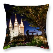 SLC Mother and Children Throw Pillow by La Rae  Roberts