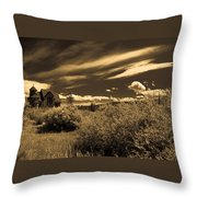 Small Town Church Throw Pillow by Marilyn Hunt
