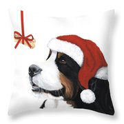 Smile its Christmas Throw Pillow by Liane Weyers