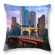 Smithfield Street Bridge Throw Pillow by Emmanuel Panagiotakis