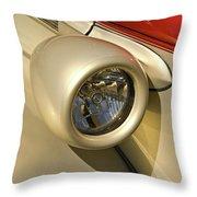 Snazzy Headlamp On Antique Car Throw Pillow by Douglas Barnett