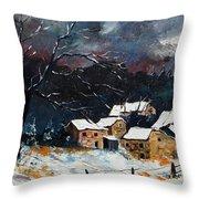Snow 57 Throw Pillow by Pol Ledent