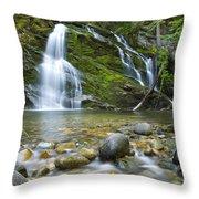 Snow Creek Falls Throw Pillow by Idaho Scenic Images Linda Lantzy