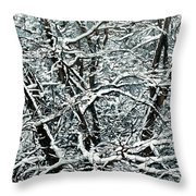Snow Tree Throw Pillow by Nadi Spencer