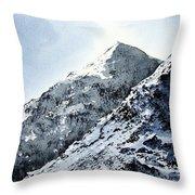 Snowdon Throw Pillow by Paul Dene Marlor