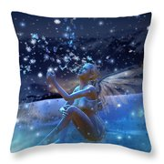 Snowflake Throw Pillow by Mary Hood