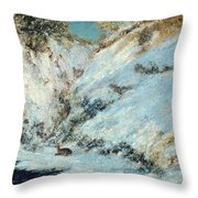 Snowy Landscape Throw Pillow by Gustave Courbet