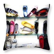 So Many Shoes... Throw Pillow by Marilyn Hunt