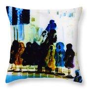 Soho Shop Window Throw Pillow by Karin Kohlmeier