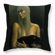 Solitare Throw Pillow by Jane Whiting Chrzanoska