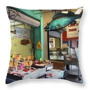 Something's Fishy Throw Pillow by Lori Deiter