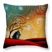 Songs Of The Night Throw Pillow by Cindy Thornton
