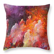 Souls In Hell Throw Pillow by Miki De Goodaboom