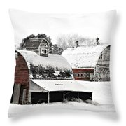 South Dakota Farm Throw Pillow by Julie Hamilton