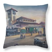 Southern Railway Throw Pillow by Charles Roy Smith