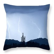 Southwest Desert Lightning Blues Throw Pillow by James BO  Insogna