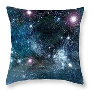 Space003 Throw Pillow by Svetlana Sewell