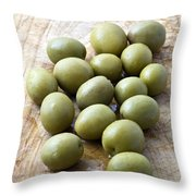 Spanish Manzanilla Olives Throw Pillow by Frank Tschakert