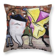 Spanish Tooth Throw Pillow by Anthony Falbo