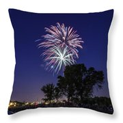 Spark and Bang Throw Pillow by CJ Schmit
