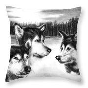 Spirit Guides  Throw Pillow by Peter Piatt