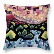 Spirit-matter Fluctuation Throw Pillow by Dale Beckman