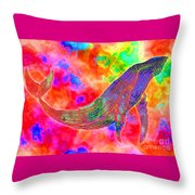 Spirit Whale Throw Pillow by Nick Gustafson