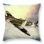 Spitfire Throw Pillow by Marc Stewart