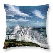 Splash Happy Throw Pillow by Kym Clarke