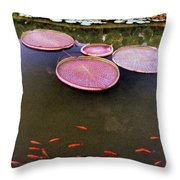 Splash Of Tangerine Throw Pillow by Jan Amiss Photography