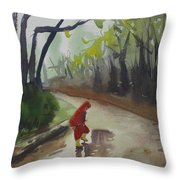 Splashing Throw Pillow by John Holdway