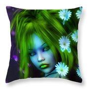 Spring Elf Throw Pillow by Jutta Maria Pusl
