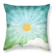spring summer Throw Pillow by Setsiri Silapasuwanchai