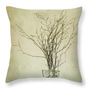 Spring Unfolds Throw Pillow by Priska Wettstein