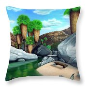 Springtime In The Canyons Throw Pillow by Snake Jagger