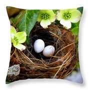 Springtime Throw Pillow by Karen Wiles